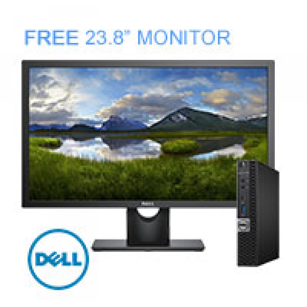 "DELL OPTIPLEX 7060 MFF Desktop I7-8700T, Win10 Pro, 8GB, 256GB - FREE 23.8"" Monitor"