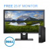 "DELL OPTIPLEX 7060 MFF Desktop I5-8500T, Win10 Pro, 8GB, 256GB - FREE 23.8"" Monitor"