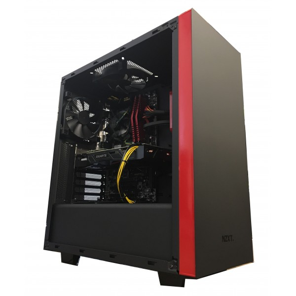 Legend PC Assassin Gaming Desktop PC - Intel Coffee Lake i7 8700 3.2Ghz 6 Core CPU, Z370 Chipset, 16GB Gaming RAM, Intel 256GB M.2 SSD+1TB HDD, 8GB Geforce GTX1070 Gaming Graphics Card, NZXT S340 Tower Case, Windows 10, 300Mbps Wireless, 2 Years Warranty