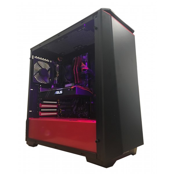 Legend PC Eclipse II Gaming Desktop PC - Intel Core i5 8400 2.8Ghz 6 Core CPU, Z370 Chipset, 16GB Gaming RAM, Intel 256GB M.2 SSD+1TB HDD, 6GB Geforce GTX1060 Graphics Card, Phanteks P400 Temper Glass Case, Windows 10, 300Mbps Wireless, 2 Years Warranty