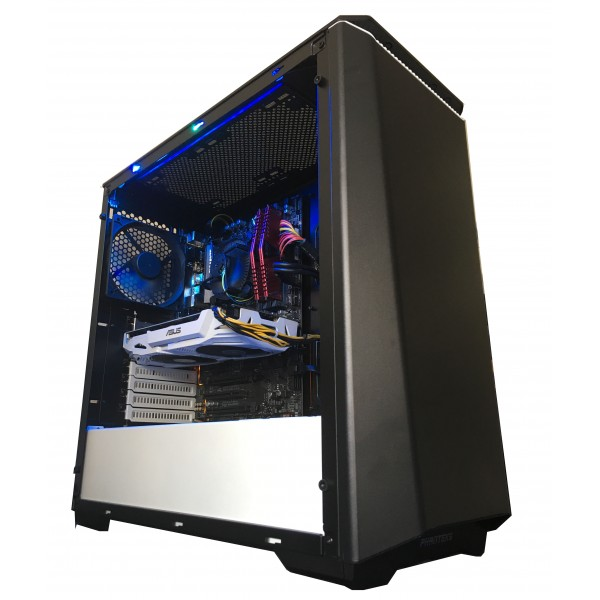 Legend PC Hunter Gaming Desktop PC - Intel Core i5 7400 3.0Ghz Quad Core CPU, H270 Chipset, 8GB Gaming RAM, 240GB SSD+1TB HDD, 3GB Geforce GTX1060 Gaming Graphics Card, Phanteks P400 Temper Glass Case, Windows 10, 300Mbps Wireless, 2 Years Warranty