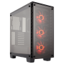 Corsair Crystal Series 460X Case Tempered Glass Mid ATX Tower - 3 x 120mm SP120 RGB LED Fans Included