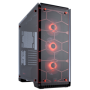 CORSAIR CRYSTAL SERIES 570X GAMING ATX MID-TOWER CASE - RED