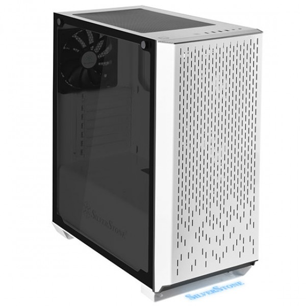SilverStone PM02W-G Primera ATX White Tower Case with Tempered Glass