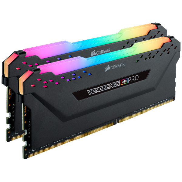 CORSAIR DDR4, 2666MHZ 32GB (2x16GB0 DIMM, 16-18-18-35, VENGEANCE RGB LED PRO BLACK HEAT SPREADER