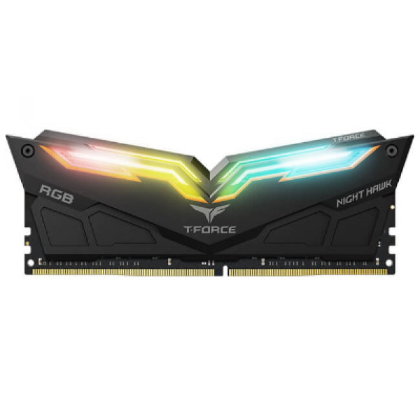 Team Night Hawk Black HS with RGB LED 16GB (8GB x 2) DDR4-3000 Gaming Memory