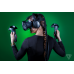 HTC VIVE Virtual Reality Headset, Incl headset, 2 wireless controllers, 2 base stations, link box, earbuds, Vive accessories